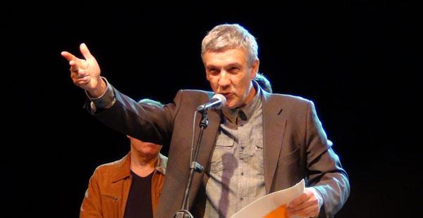 Joan Manuel V. Parisi recibe el premio BarnaSants al activismo cultural. © Imma Hernández