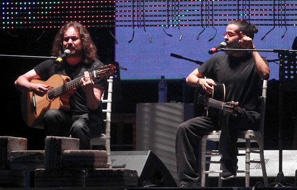 El dúo boliviano Negro y Blanco. © Jorge Gutiérrez