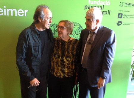 Joan Manuel Serrat,  Diana Garrigosa y Pasqual Maragall, exalcalde de Barcelona y expresidente del Gobierno catalán. © Xavier Pintanel