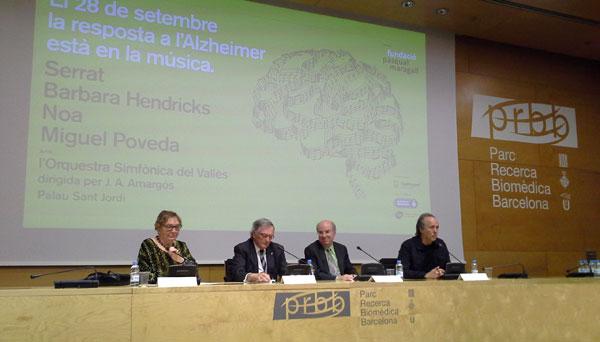 Rueda de prensa de la presentación del concierto «El 28 de septiembre la respuesta al Alzheimer está en la música». © Xavier Pintanel