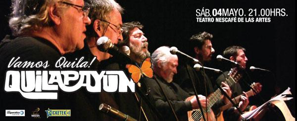 Concierto «¡Vamos, Quila!» de Quilapayún-Carrasco en desagravio a los instrumentos robados a Ismael Oddó.