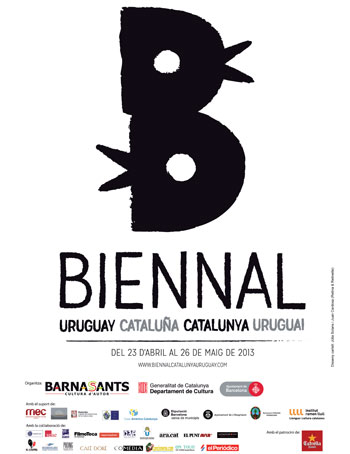 Cartel de la II Bienal Uruguay-Cataluña 2013
