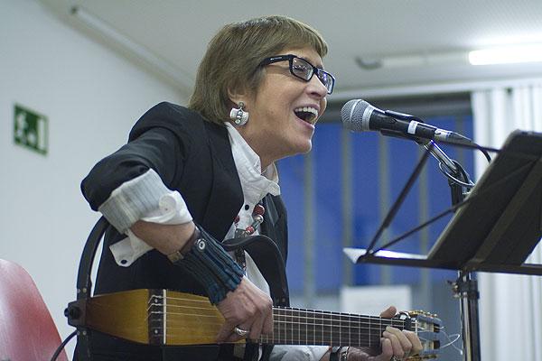 Teresa Parodi en uno de sus conciertos en Barcelona. © Xavier Pintanel