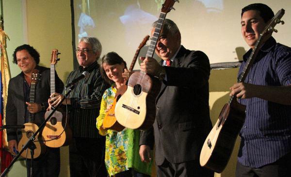 De izquierda a derecha: Luis Pino, Ángel Martínez, Cecilia Todd, José Cheo Hurtado y Marcel Montcourt.