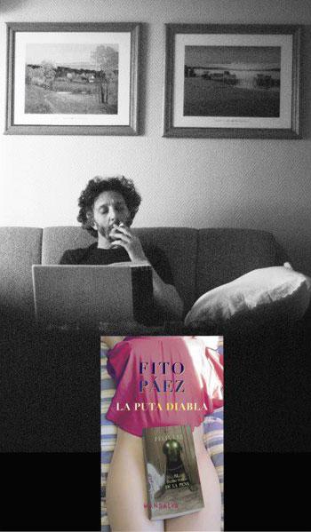 Afiche promocional de «La Puta Diabla» de Fito Páez.