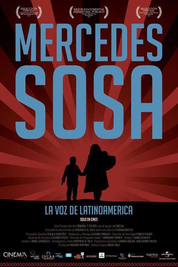 Cartel de la película «Mercedes Sosa, la voz de Latinoamérica».