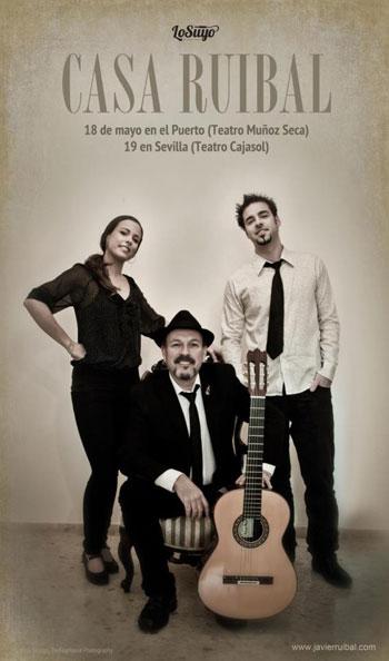 Cartel de los conciertos «Casa Ruibal»