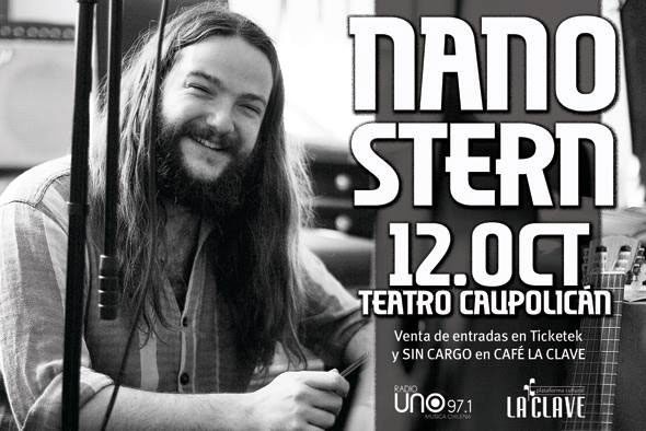 Cartel de la presentación de Nano Stern en el Caupolicán.