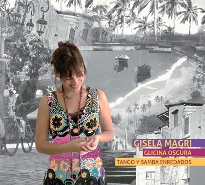 Portada del disco «Glicina oscura, tango y samba enredados» de Gisela Magri.