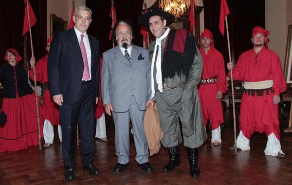 De izquierda a derecha: Julián Domínguez, Horacio Guarany y el Chaqueño Palavecino.