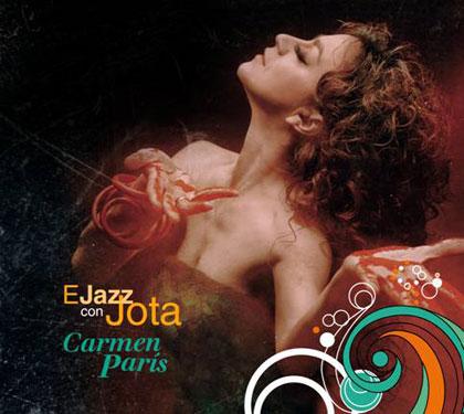Portada del disco «Ejazz con jota» de Carmen París.