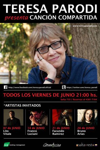 Teresa Parodi presenta el ciclo «Canción Compartida»