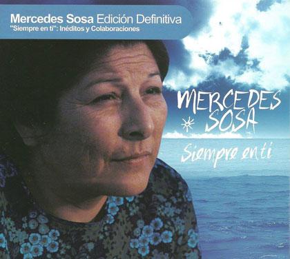 Portada del disco «Siempre en ti» de Mercedes Sosa.
