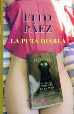Portada del libro «La puta diabla» de Fito Páez.