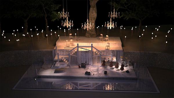 Diseño del escenario de Lluís Danés.