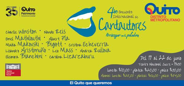 IV Encuentro Internacional de Cantautores Quito