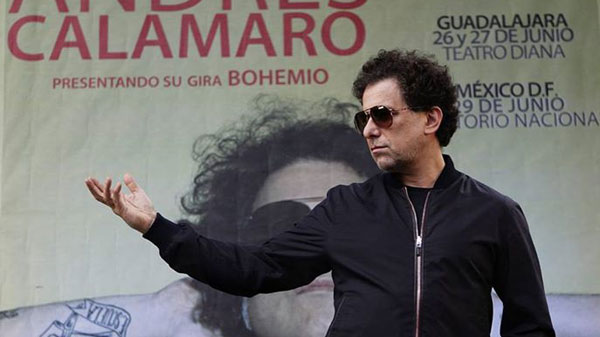 Andrés Calamaro presentando su gira «Bohemio».