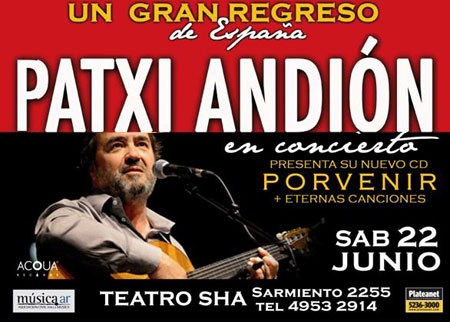 Patxi Andión en Argentina