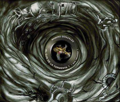 Portada del disco «El ojo de la tormenta (déle retumbar)» de  Ramiro González.