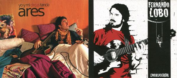 Portadas de los discos «Yo y mi circus tancia» y «Encrucijada» de Antonio Martínez Ares y Fernando Lobo, respectivamente.