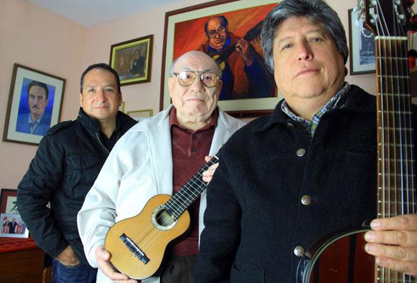 De izquierda a derecha: Diosdado Gaitán Castro, Jaime Guardia y Julio Humala. © Beti Pashanasi