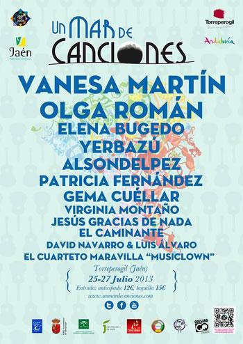 Cartel del XII Un mar de canciones de Torreperogil 2013