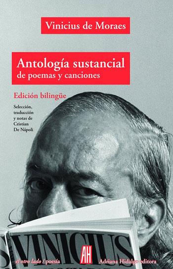 Portada del libro «Antología sustancial» de Vinicius de Moraes.