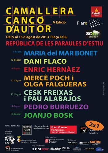 Cartel del V Festival de Canción de Autor de Camallera