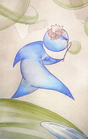 Dibujo de Fernando Cetrángolo, tomado del libreto que acompaña al CD.