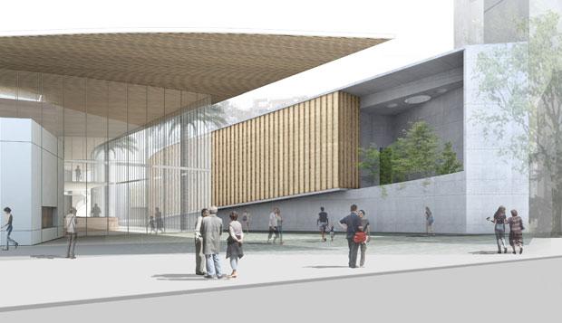 Proyecto de la fachada exterior del Museo de Violeta Parra.