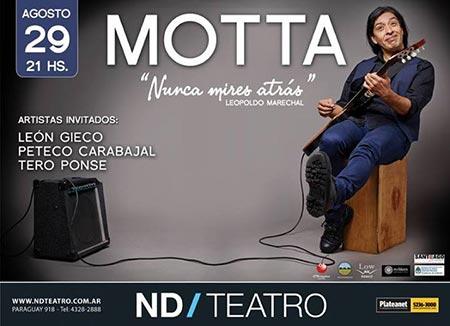 Cartel del concierto de Motta Luna en el ND Ateneo.