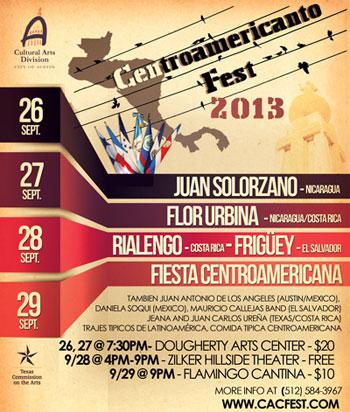 Cartel del V CentroAmericanto Fest 2013.