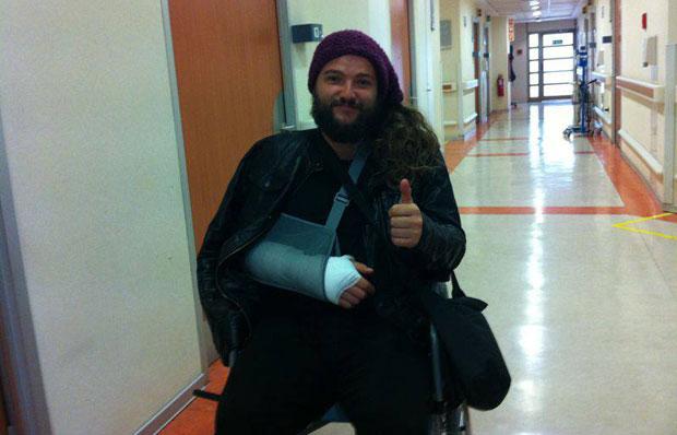 Nano Stern en el hospital