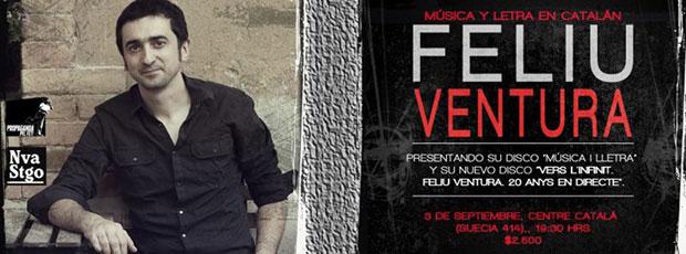 Cartel del del concierto en el Casal Català de Xile de Feliu Ventura.