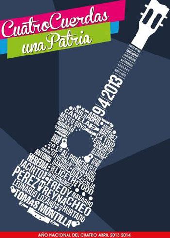 Cartel de «Cuatro cuerdas, una patria».