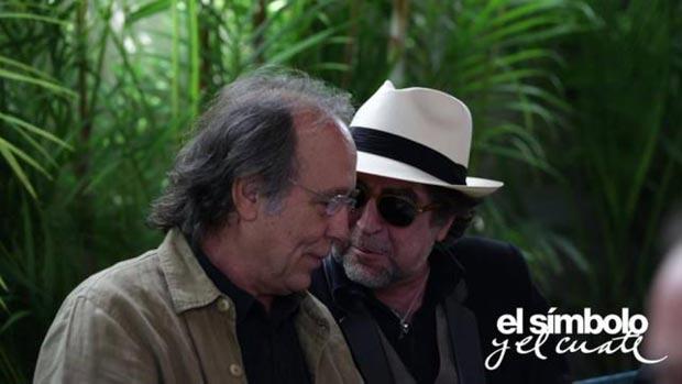 Fotograma del documental «El símbolo y el cuate» con Joan Manuel Serrat y Joaquín Sabina.