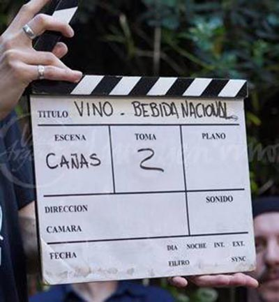 Rodaje de la campaña «El vino nos une».