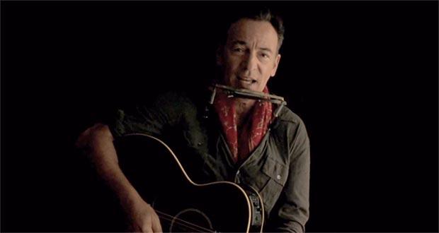 Bruce Springsteen en un fotograma deñ video «Solo le pido a Dios».