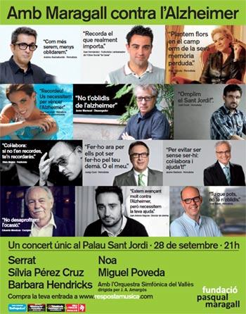 Numerosas caras conocidas dan soporte al Concierto contra el Alzheimer de la Fundación Pasqual Maragall.
