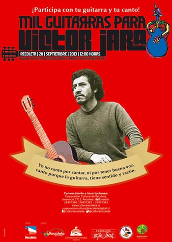 Cartel de «Mil guitarras para Víctor Jara»,