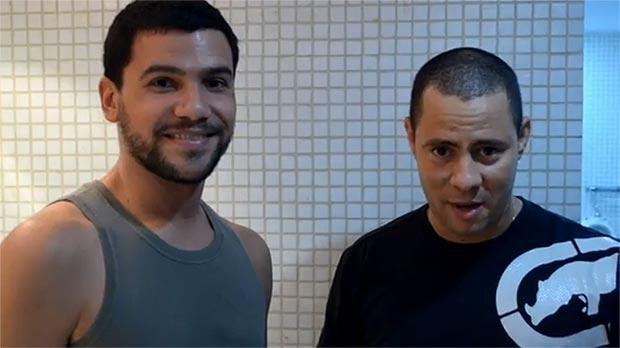 José Alejandro Delgado junto a Israel Rojas.