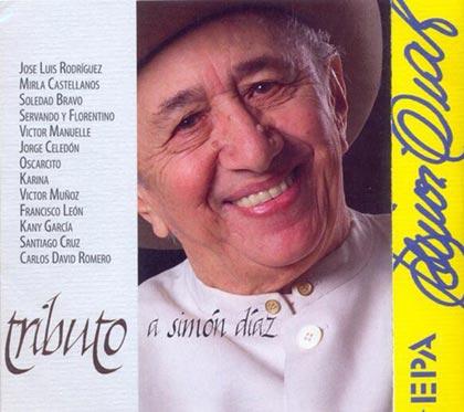 Portada del disco «Tributo a Simón Díaz».