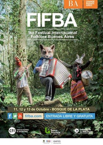 Cartel del V Festival Internacional Folclore Buenos Aires (FIFBA) 2013