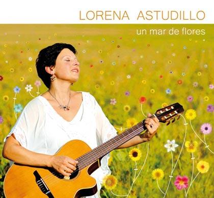 Portada del disco «Un mar de flores» de Lorena Astudillo.