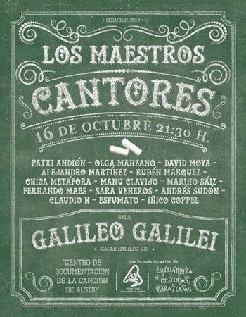 Cartel del concierto «Los maestros cantores» © Martín Acosta