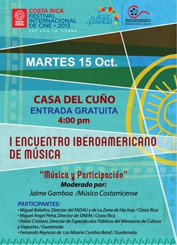 Cartel del primer Encuentro Iberoamericano de Música en Costa Rica.