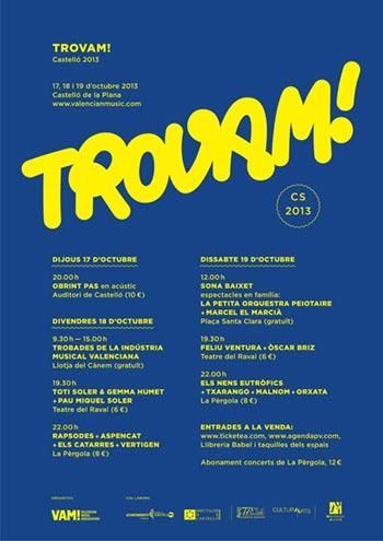 Cartel del I Trovam! 2013