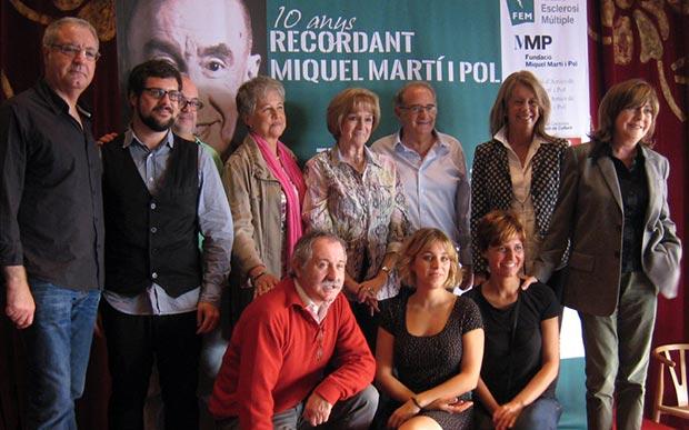 Foto de familia de la rueda de prensa de esta mañana en Barcelona.