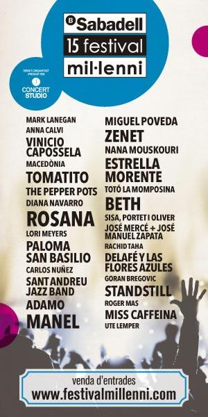 Cartel del 15 Banc Sabadell Festival Mil•lenni 2013