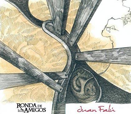 Portada del disco «Ronda de los amigos» de Juan Falú.